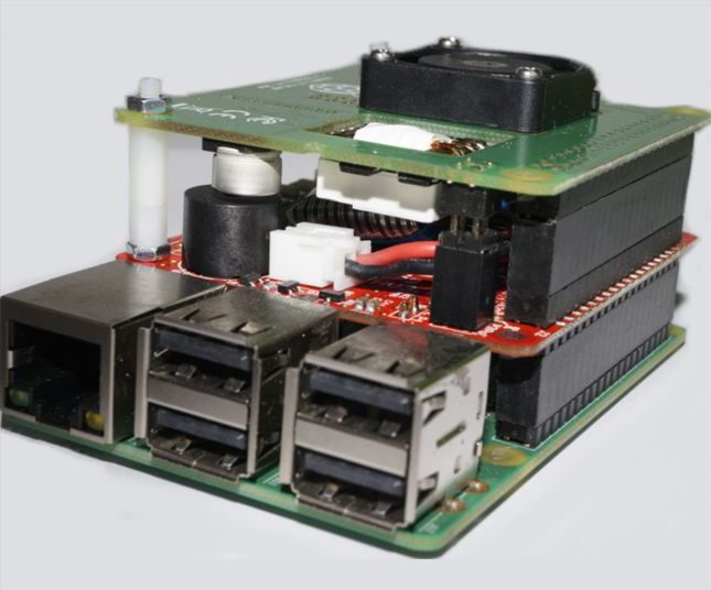 UPS PIco HV3.0B+ HAT Stack 450 PoE