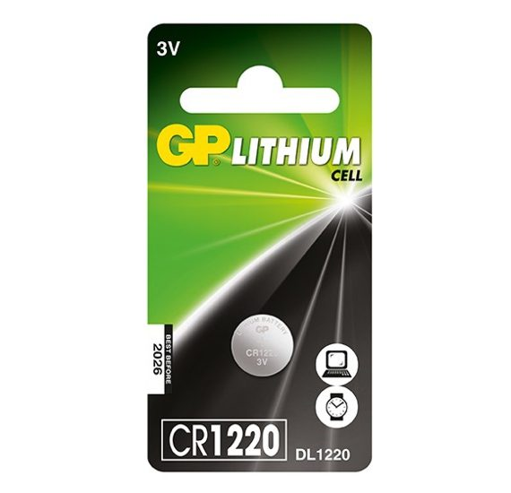 GP Lithium High Quality Coin Battery 1220